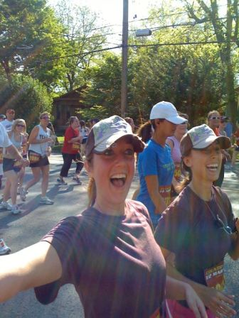 With Heather in 2009, run/walking the Music City Half Marathon.